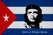 Aufnäher Patch Kuba mit Che Guevara Hasta la Victoria Sempre  9 x 6 cm