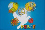 Aufnäher Peace Motiv Nr. 6 Patch 9 x 6 cm