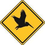 Aufkleber Vorsicht / Achtung Pelikan