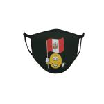Gesichtsmaske Behelfsmaske Mundschutz schwarz Peru Smily