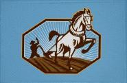 Aufnäher Pferd Motiv Nr. 35 Patch 9 x 6 cm