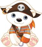 Aufkleber Piraten Eisbär