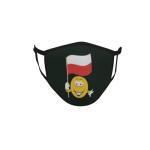 Gesichtsmaske Behelfsmaske Mundschutz schwarz Polen Smily