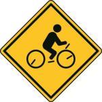 Aufkleber Vorsicht / Achtung Radfahren