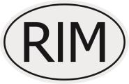 Aufkleber Autokennzeichen RIM = Mauretanien