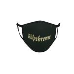 Gesichtsmaske Behelfsmaske Mundschutz schwarz Rülpsbremse