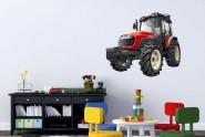 Wandtattoo Roter Traktor Color L