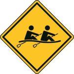 Aufkleber Vorsicht / Achtung Rudern