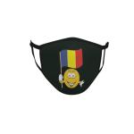 Gesichtsmaske Behelfsmaske Mundschutz schwarz Rumänien Smily