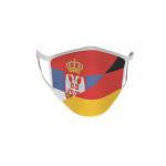 Gesichtsmaske Behelfsmaske Mundschutz Serbien-Deutschland