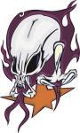 Aufkleber Pirat Totenkopf Skull Motiv Nr. 1