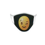 Gesichtsmaske Behelfsmaske Mundschutz Smily zwinkernd