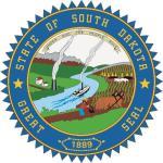 Aufkleber South Dakota Siegel Seal