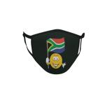 Gesichtsmaske Behelfsmaske Mundschutz schwarz Südafrika Smily