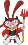Aufkleber Teufels Hase Teufel