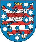 Aufkleber Thüringen Wappen