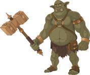 Aufkleber Troll Ork