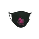 Gesichtsmaske Behelfsmaske Mundschutz schwarz Unicorns are real