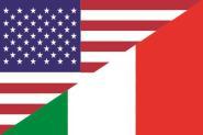 Flagge USA - Italien
