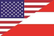 Aufkleber USA-Österreich