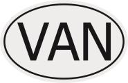 Aufkleber Autokennzeichen VAN = Vanuatu