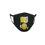 Gesichtsmaske Behelfsmaske Mundschutz schwarz Vatikan Smily