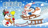 Fahne Winter 90 x 150 cm