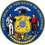 Aufkleber Wisconsin Siegel Seal