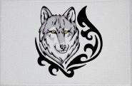 Aufnäher Wolf Motiv Nr. 1 Patch 9 x 6 cm