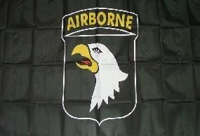 Fahne 101st Airborne schwarz 90 x 150 cm