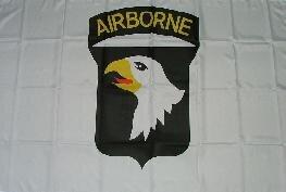 Fahne 101st Airborne weiss 90 x 150 cm