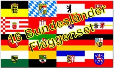 16 Bundesländer - Flaggenset 150 x 250 cm