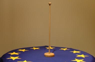 1-er Tischflaggenständer Holz
