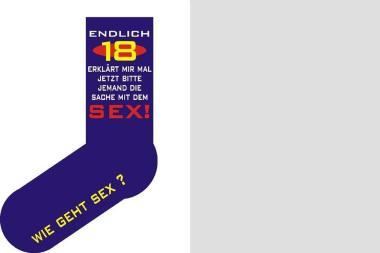 Socken Endlich 18 erklärt mir mal jetzt ... Größe 40 - 45