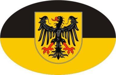 Aufkleber oval Aachen 10 x 6,5 cm