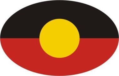 Aufkleber oval Aborigines 10 x 6,5 cm