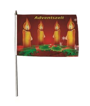 Stockflagge Adventszeit 30 x 45 cm