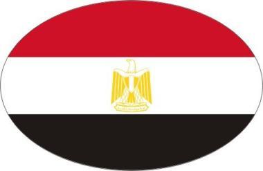 Aufkleber oval Ägypten 10 x 6,5 cm