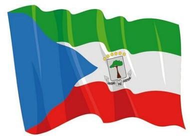 Aufkleber Flagge Äquatorial-Guinea wehend 8,5 x 6 cm