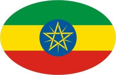 Aufkleber oval Äthiopien 10 x 6,5 cm
