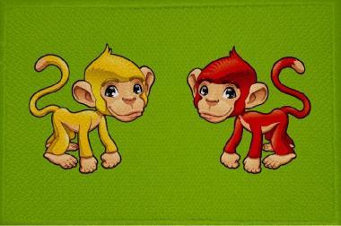 Aufnäher Affe Motiv Nr. 5 Patch 9 x 6 cm