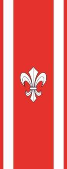 Flagge Ahnatal im Hochformat