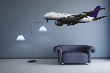 Wandtattoo Airbus A 380 Color Motiv Nr. 1 XXL 128 x 40 cm