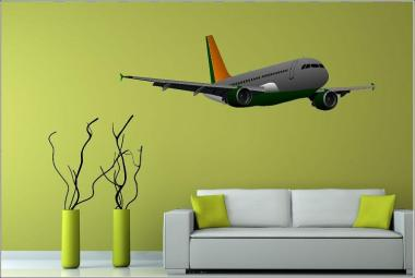 Wandtattoo Airbus A318 Color