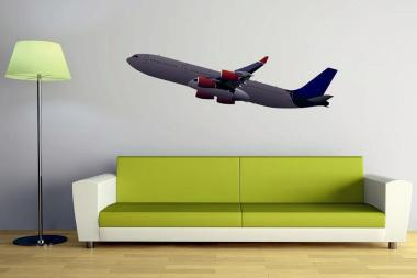 Wandtattoo Airbus A340 Color