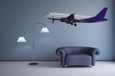 Wandtattoo Airbus A320 Color Motiv Nr. 1