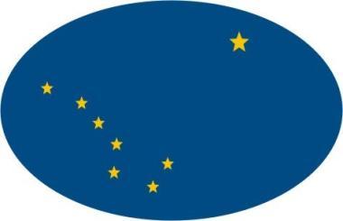 Aufkleber oval Alaska 10 x 6,5 cm