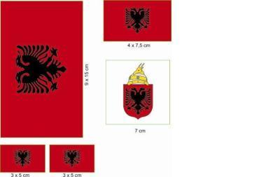 Aufkleberbogen Albanien