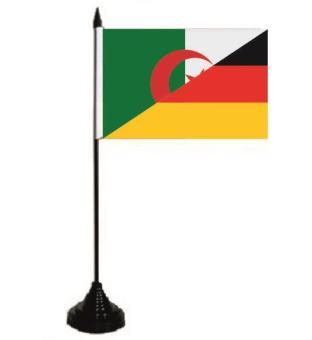 Tischflagge Algerien - Deutschland 10 x 15 cm
