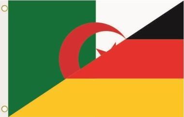 Fahne Algerien-Deutschland 90 x 150 cm